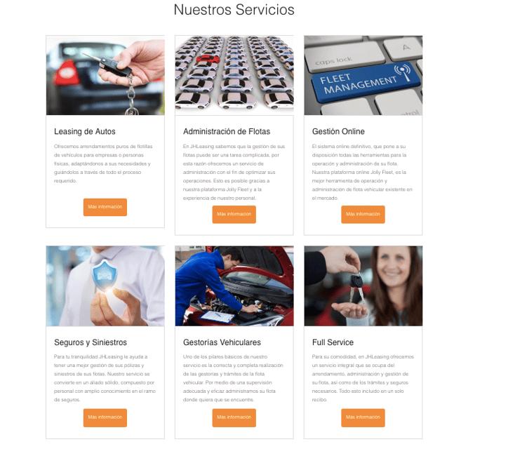 Servicios de JHL Leasing: Leasing de autos y administración de flotas