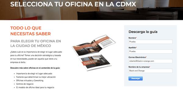 Landing Page CREA WS Selecciona tu oficina en la CDMX