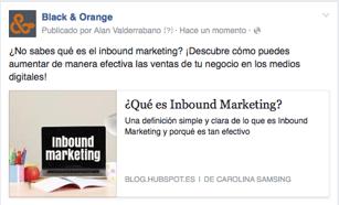 Como hacer publicidad en Facebook con contenido externo